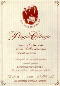 First manufacturer of pure ciliegiolo since 1988